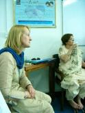 2006 Pakistan. Teaching counsellors and community workers at Sahil the protocols for healing trauma in their community