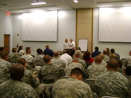 2008/9 Fort Benning, Georgia. Warrior Transition Battalion. Teaching Trauma healing protocols for PTSD